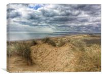 Sand Dunes love heart, Canvas Print