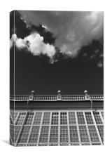 Building and cloud #5340, Canvas Print