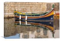 Maltese boat, Canvas Print