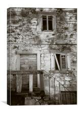 Derelict townhouse, Labin, Croatia., Canvas Print