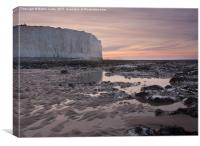 Sussex Pink Dawn, Canvas Print