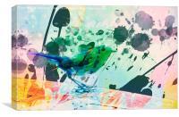 Robin watercolour, Canvas Print