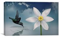 Flutter flower, Canvas Print