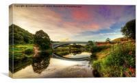 Bridge over the wye, Canvas Print