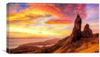 Old man of Storr.., Canvas Print