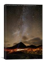 Skye stars, Canvas Print