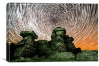Great Staple Tor Star Trails, Canvas Print
