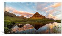 Lochen Na Fola on the Scottish highlands at Glenco, Canvas Print