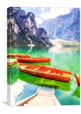 Italy's Lago di braies, Canvas Print