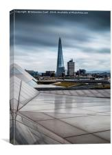 The glass shard in London, Canvas Print