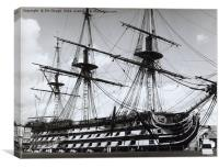 HMS Victory in Portsmouth 1961, Canvas Print