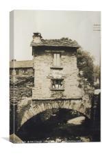 Old Bridge House in Ambleside - Lake District, Canvas Print