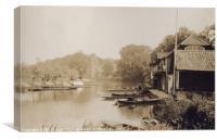 Hemingford Grey In Cambridgeshire 1938, Canvas Print