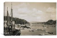 Views of Conwy Harbour In Wales 1940, Canvas Print
