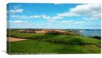 Rural Views Across to Torcross and the Coast, Canvas Print