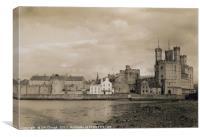 Caernarfon Castle in Wales 1940, Canvas Print
