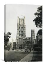Ely Cathedral Cambridgeshire 1938, Canvas Print