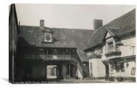 The George Pub in Huntingdon taken in 1938, Canvas Print