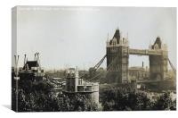 Tower Bridge in London 1937, Canvas Print