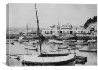 Torquay Harbour in Devon 1933, Canvas Print