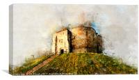 Clifford's Tower / York Castle Abstract Effect, Canvas Print