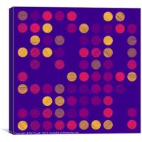 Colourful Scribble Circles Abstract Art - Colour 1, Canvas Print