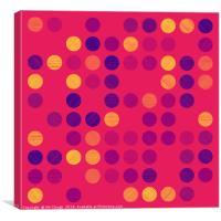 Colourful Scribble Circles Abstract Art - Colour 2, Canvas Print