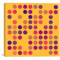 Colourful Scribble Circles Abstract Art - Colour 3, Canvas Print