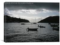 Dartmouth Harbour with Dramatic Cloud - Oil Effect, Canvas Print