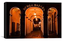 Berga Bazars, Canvas Print