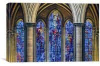 Salisbury Cathedral Stain Glass Window, Canvas Print