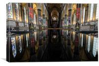 Salisbury Cathedral Font Reflection, Canvas Print