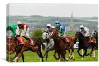Horse Racing, Canvas Print