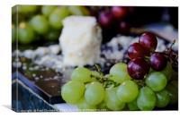 Grapes & Cheese, Canvas Print