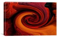 Red and beyond one color, Canvas Print