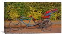 Rickshaw Memories, Canvas Print