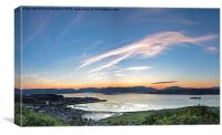 Sunset over the bay, Canvas Print