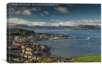 River Clyde winter scene from Lyle Hill in Greenoc, Canvas Print