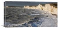 The  Seven Sisters, East Sussex, Canvas Print