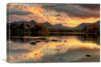 Derwent Water Twilight, Canvas Print