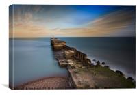 Harbour Wall, Hastings, E. Sussex, Canvas Print