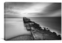 Harbour Arm at Twilight, Canvas Print