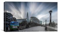 Towards City Hall, London's South Bank, Canvas Print