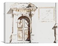 DOORWAY IN SICILY, Canvas Print