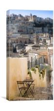 STEPPED ALLEYWAY, SICILY, Canvas Print
