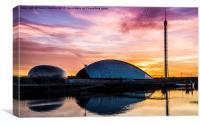Glasgow Science Centre Sunset , Canvas Print