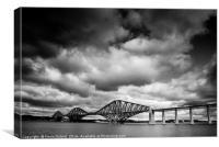 A moody Forth Rail Bridge, Canvas Print