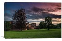 Bothwell Castle Sunset , Canvas Print