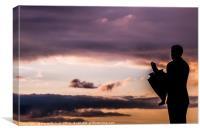 Jock Stein Sunset, Canvas Print