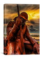 Seaham Tommy - Tired of War, Canvas Print